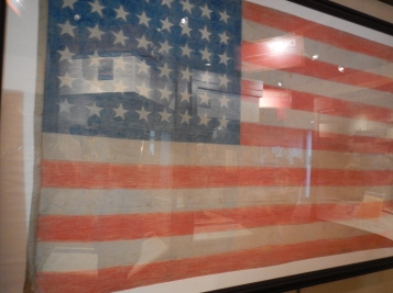 005-Flag colored by pencil made by POW in Japan in WWII