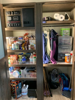 The pantry has lots of space, and the closet can be converted to a laundry room down the road.